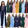 Ethnic Embroidery Abaya Dubai Long Dress Women Muslim Kaftan Islamic Robe Party