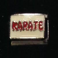 Karate - Martial Art Sport - Italian Charm Bracelet Link 9mm - D'LINQ