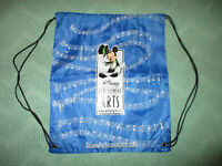 Walt Disney World Performing Arts Nylon Tote Bag Blue WDW Mickey Mouse Back Pack