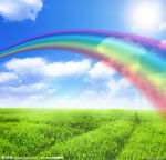 Colourful rainbow kids clothing