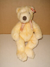 "TY CLASSIC 1999 PLUSH TEDDY BEAR 15"" Butterbeary YELLOW/GOLD FUR~BRONZE BOW"