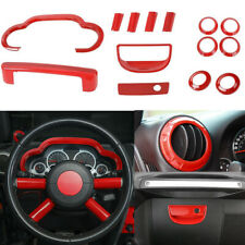 14pcs Interior Accessories for 2007-2010 Jeep Wrangler JK JKU in-Dash Trim Cover