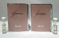 Hugo Boss Femme Women's Eau de Parfum EDP Splash 0.06 oz 2 ml New Vials x 2