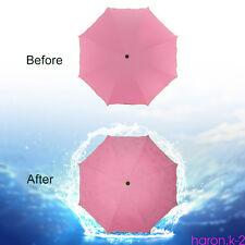 New 50+ Anti UV Sun Rain Parasol 3 Folding Umbrella Encounter Water Show Flower