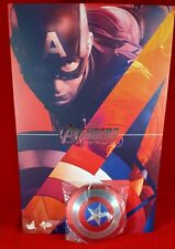 "Genuine 1/6 Hot MMS281 Captain America 12"" action figure Magnetic Metal Shield"