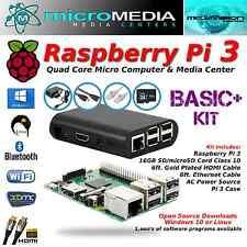 Raspberry Pi 3 BasicPlus Quad Core Mini Computer 32GB Kit-Bluetooth Wifi microSD