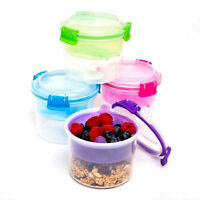 Sistema 530ml Breakfast Storage Container Klip It BPA Free Plastic Lid Bowl