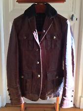 DSQUARED² Marron Military Slim-Fit Jacket Fur Collar Tartan Lining MOD. 71 BN207