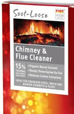 Soot Loose Chimney Flue Fire Cleaner 50g NEW Genuine Rubbedin Fireplace Clean
