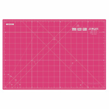 "OLFA Double Sided Self Healing Rotary Cutting Mat 12"" X 18"" - Pink"