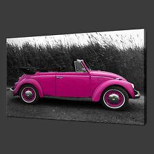 VW BEATLE CANVAS WALL ART PICTURES PRINTS 30 x 20 Inch FREE UK P&P