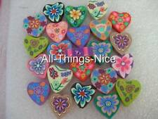 Polymer FIMO Clay 18MM HEART Beads Pendant Jewellery Making Craft Findings 30
