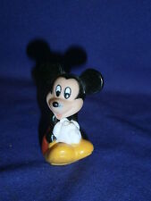 Vintage Disney Mickey Mouse Vinyl Pencil/Tube Topper Figure 2in c1990s