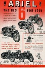 1961 Ariel Motorcycle Red Hunter Big 6 advertisement  ca 8 x 10 print