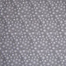 Gray Stars on Black Christmas Fabric Fabri-Quilt YARD