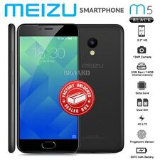 "New Factory Unlocked Sealed MEIZU M5 M611H Black 5.2"" 16GB Android Mobile Phone"