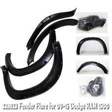Matte Black Fender Flare Wheel Guard Pocket Style for 09-15 Dodge RAM 1500