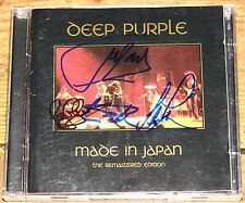 DEEP PURPLE MADE IN JAPAN SIGNED UK CD LORD GILLAN PAICE GLOVER UACC REG DEALER