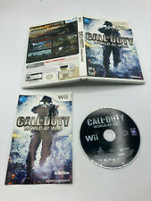 Nintendo Wii Cib Complete Tested Call of Duty: World at War