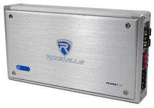Rockville RXM-T2 Micro 2400w 2 Ch Marine/Boat Class D Amplifier 2x600W CEA Rated