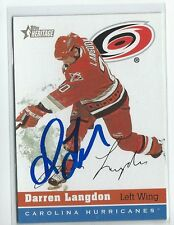 Darren Langdon Signed 2000/01 Topps Heritage Card #165