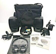 Philips Magnavox AZ7368 Portable CD Player w/Speakers Cassette Adapter + BAG VG