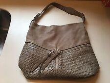 Christopher Kon Taupe Leather Handbag, Purse