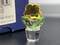Figurine Swarovski 296598 Pot de Fleurs Fleur 5 Cm. Emballage D'Origine &