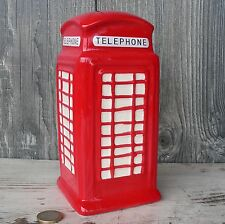 Spardose rote Telefonzelle London rot Keramik Reise England Sparschwein Urlaub
