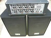 Pa Anlage Gatt GAC-208  8 Chanel Power Mixer & Boxen neu