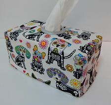 Cadavera Dogs on White Tissue Box Cover With Circle Opening - Lovely Gift Idea