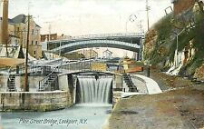 c1907 Postcard; Pine Street Bridge, Lockport, NY Niagara County, Posted