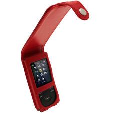 Red Leather Case for Sony Walkman NWZ-E574 NWZ-E575 NWZ-E574B NWZ-E575B Cover