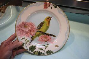 NEW WILLIAMS-SONOMA SPRING GARDEN YELLOW BIRD SALAD PLATE