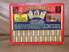 Vintage Jitney Smoker Punch Board Unused