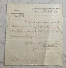 ANTIQUE CIVIL WAR CONFEDERATE GENERAL JOHN WITHERS ADS SIGNED DOCUMENT 1862 CSA