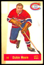 1957 58 PARKHURST HOCKEY #14 DICKIE MOORE VG-EX MONTREAL CANADIENS card