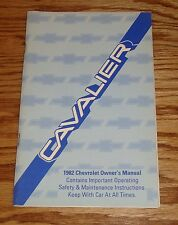 Original 1982 Chevrolet Cavalier Owners Operators Manual 82 Chevy