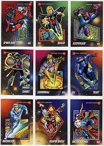 1992 Impel Marvel Universe III Avengers Base Card You Pick Finish Your Set 1-100