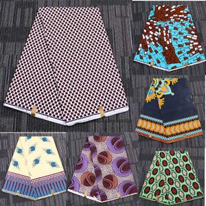 1 Yard Wax Print Fabric African Double-sided Batik Ethnic Clothing Sewing DIY