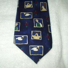 Tie Novelty Cartoon Wallace & Gromit Characters Faces Rectangles