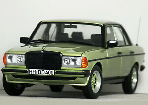 """1:18 Norev """"W123 MERCEDES BENZ 200 with AMG BODYKIT"""" (Green) HTF RARE #183795"""