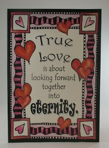 True love is about eternity anniversary SUZY TORONTO GREETING CARD