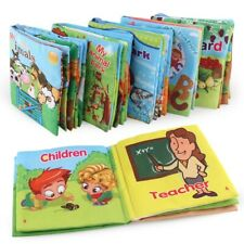 Soft Baby Cloth Books Early Educational Newborn Crib Toys for Infant Baby 0-36 M