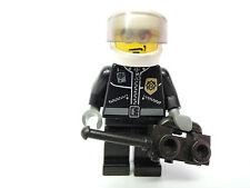 Personaggio Lego City poliziotto motociclista cty102 Giacca di Pelle Occhiali Sole 7744