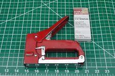 """Swingline Red #800 Heavy Duty Metal Tacker Stapler &Full Box ¼"""" Staples USA Made"""
