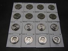 2008 2009  2010 2011- 2015 2016 2017 2018 P D KENNEDY HALFS 22 Coins Mint Rls
