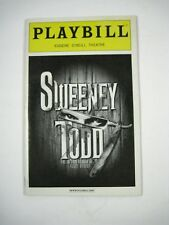 Sweeney Todd Playbill 2006 Eugene O'Neill Theatre Ticket Flyer Patti LuPone