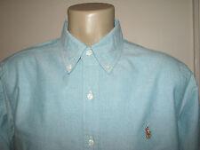 Hombre (xl) Polo-ralph Lauren azul (oscuro Cian) camisa Oxford