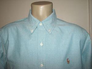 Men's (XL) POLO-RALPH LAUREN Blue (Dark Cyan) Oxford Shirt